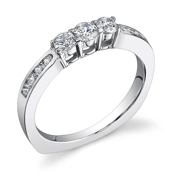 JCX391186: 3 Stone Wedding Band