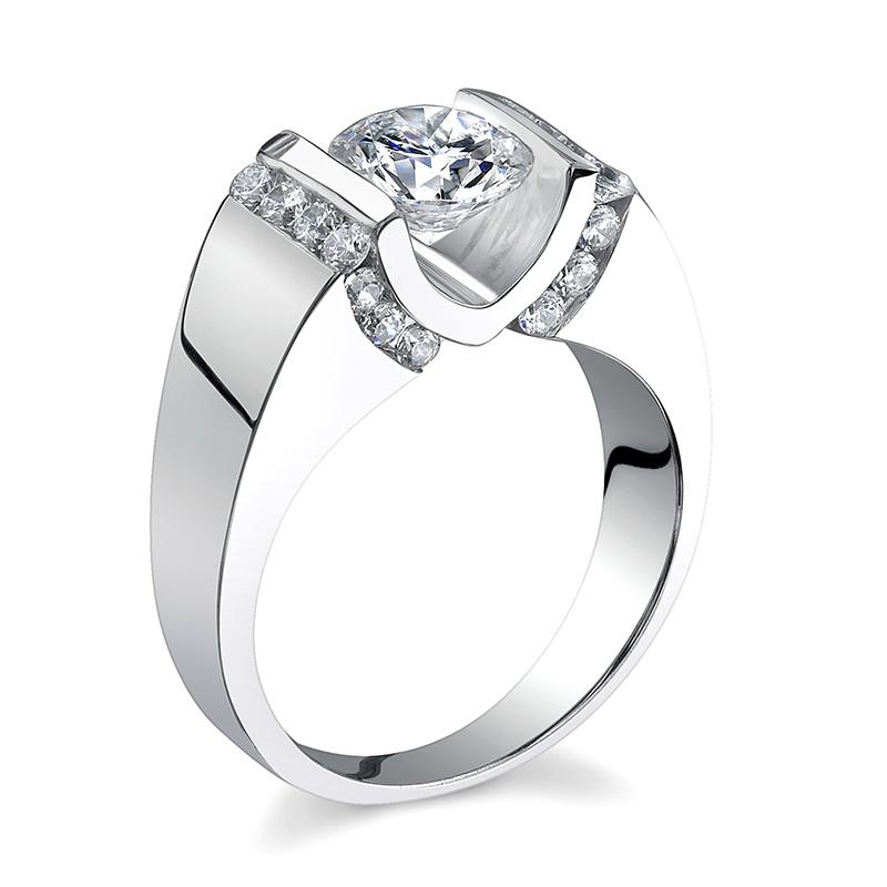 JCX391305: Floating Diamond Engagement Ring