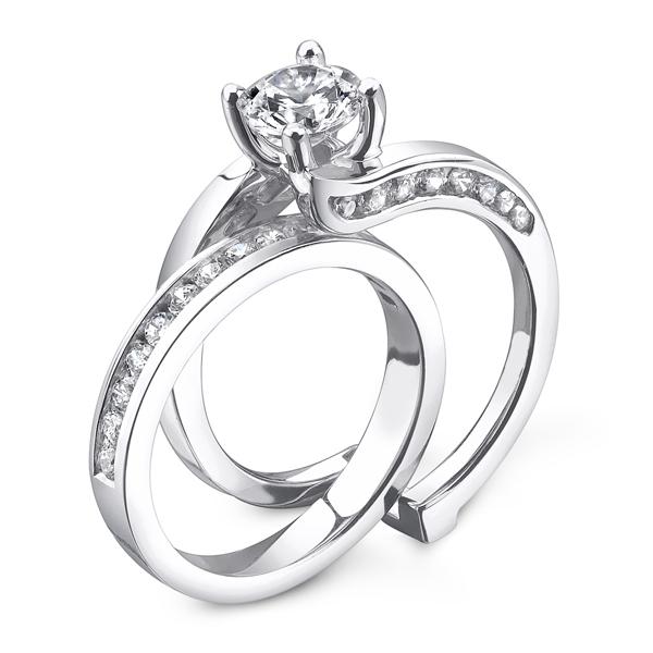 JCX391190: Slide Thru Diamond Engagement Set