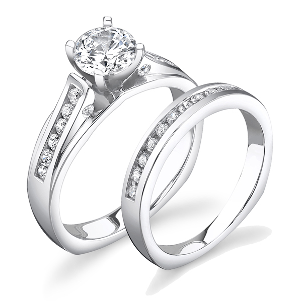 JCX391191: Diamond Engagement Set w/ Adjustable Head - Available in Multiple Sizes