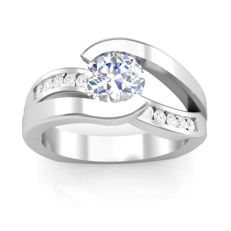 JCX391309: Floating Diamond Engagement Ring