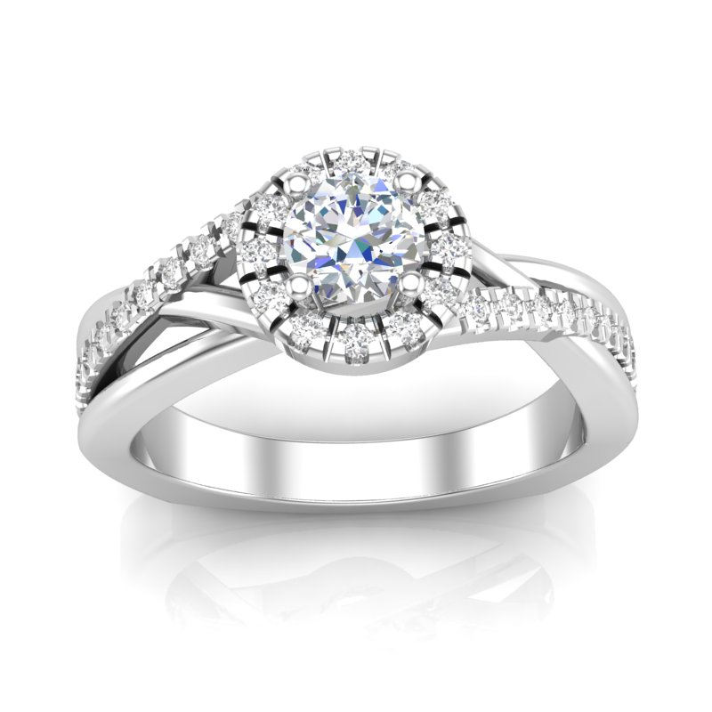 JCX391195: Halo Engagement Ring