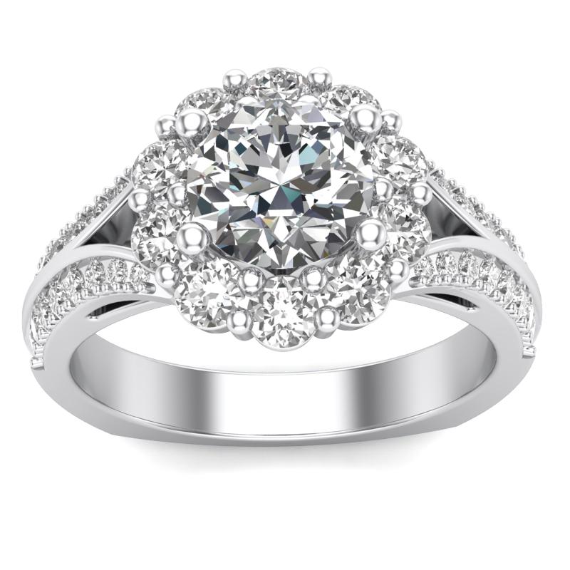 JCX391204: Halo Engagement Ring