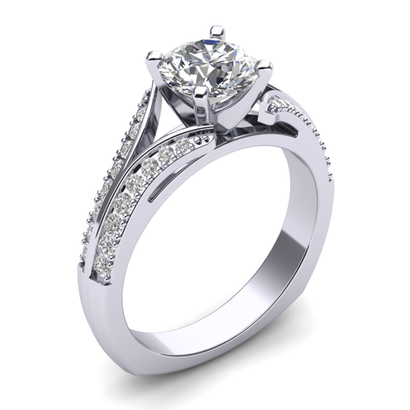 JCX391236: Split Shank Engagement Ring w/ Adjustable Head - Available in Multiple Sizes