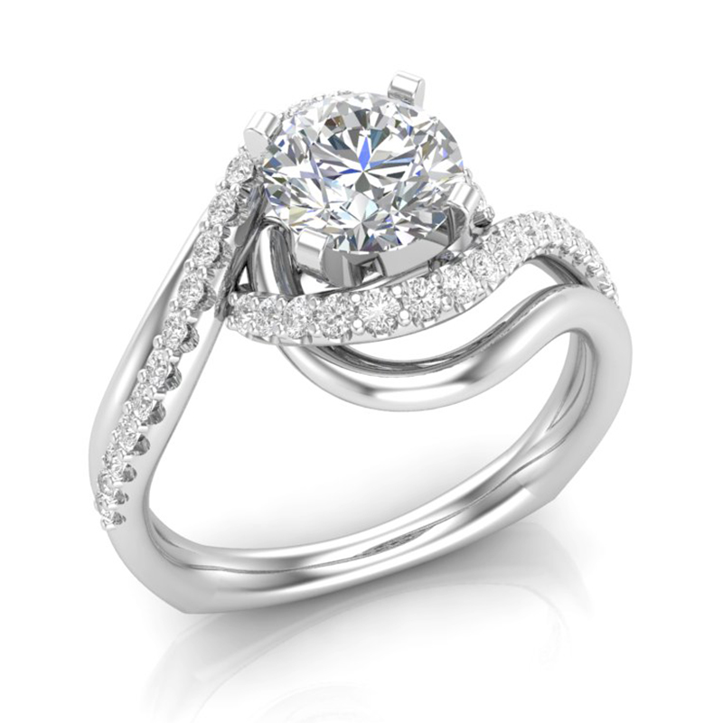 Twist Shank Engagement Ring w/ Adjustable Head - Available in Multiple Sizes