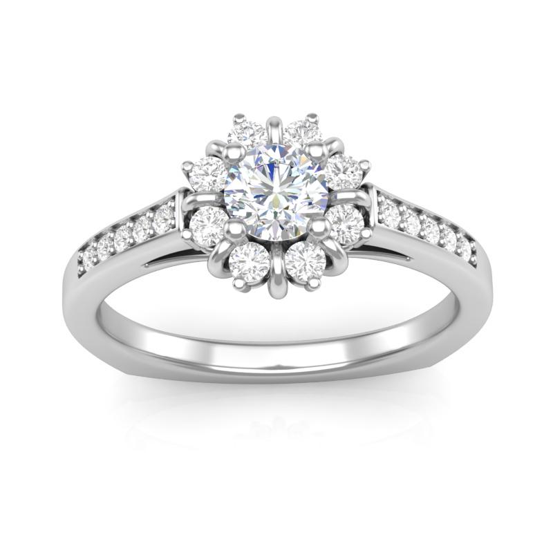 JCX391242: Halo Engagement Ring