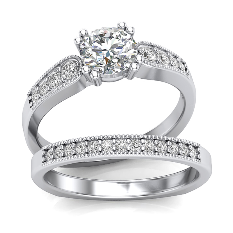 JCX391262: Low Profile Diamond Engagement Ring