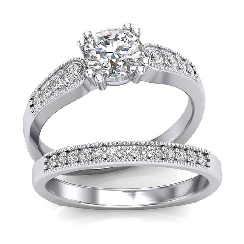 Low Profile Diamond Engagement Ring