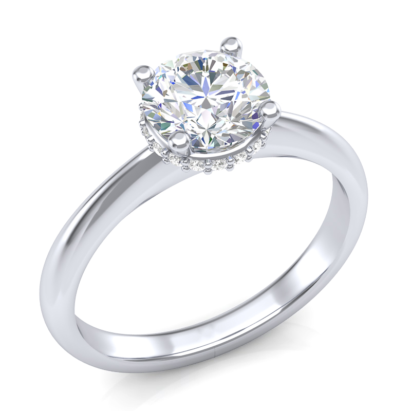 JCX391294: Halo Collar Engagement Ring