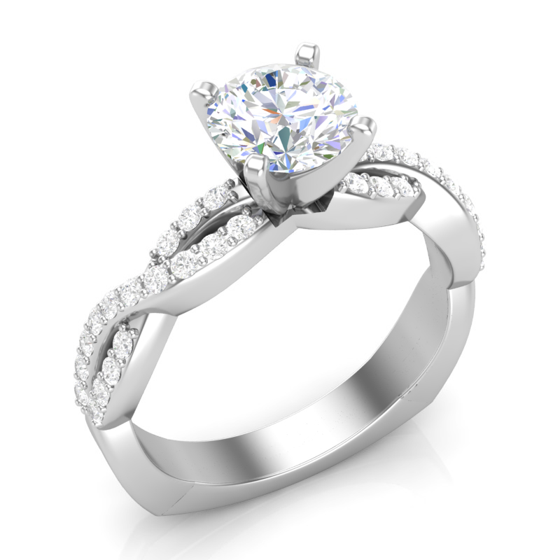 JCX391349: Infinity Shank Engagement Ring w/ Adjustable Head - Available in Multiple Sizes