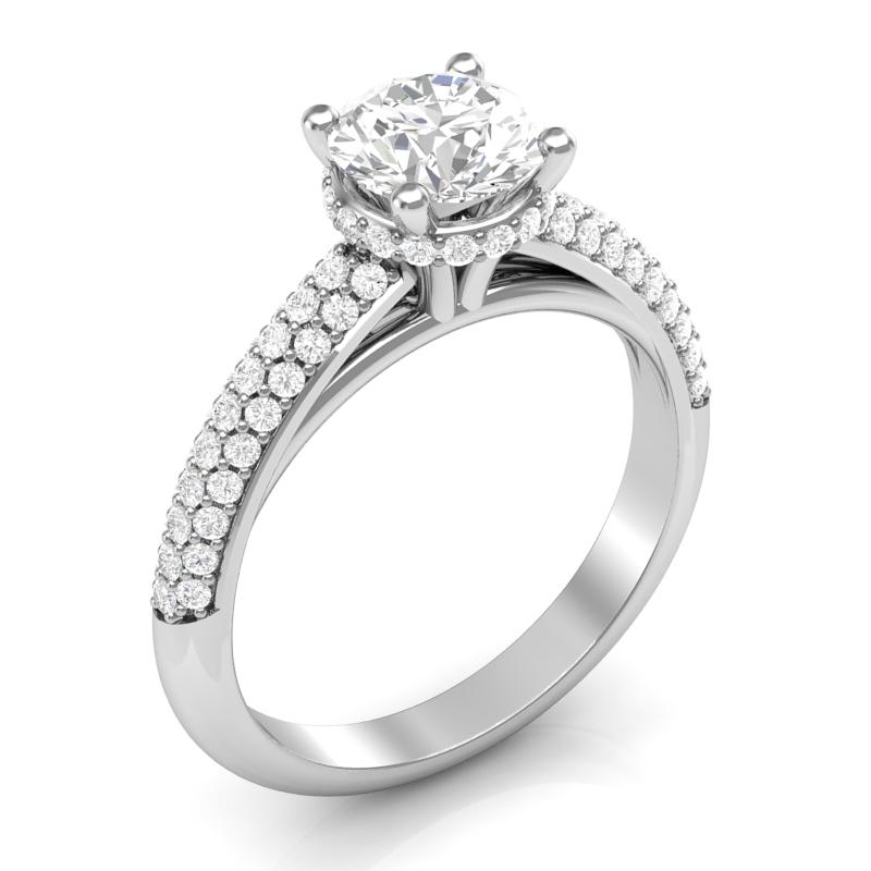 JCX391361: Collar Halo Engagement Ring