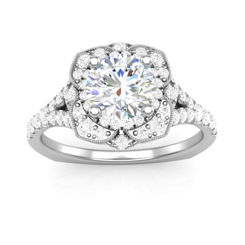 JCX391366: Halo Engagement Ring