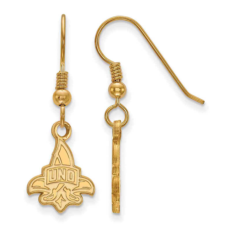 GP University of New Orleans Small Dangle Earring Wire