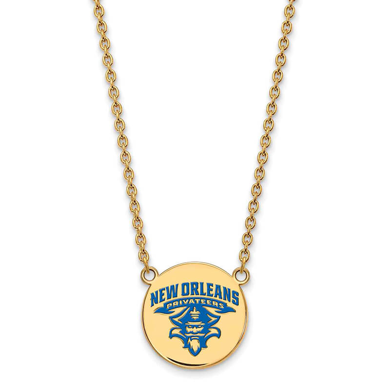 JCX363245: GP University of New Orleans Large Enamel Disc Necklace