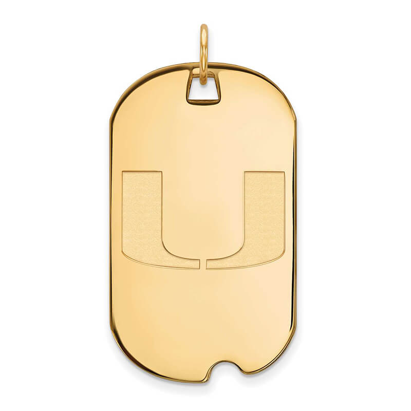 JCX358563: GP University of Miami Large Dog Tag