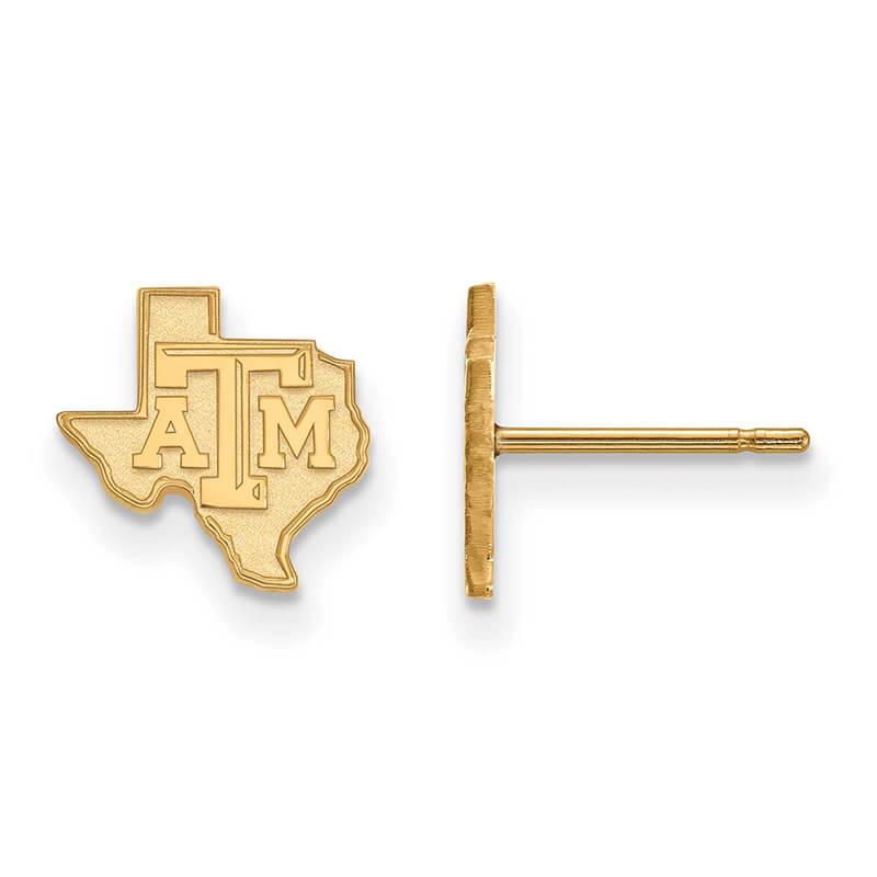 JCX372398: 14ky Texas A&M University XS Post Earring