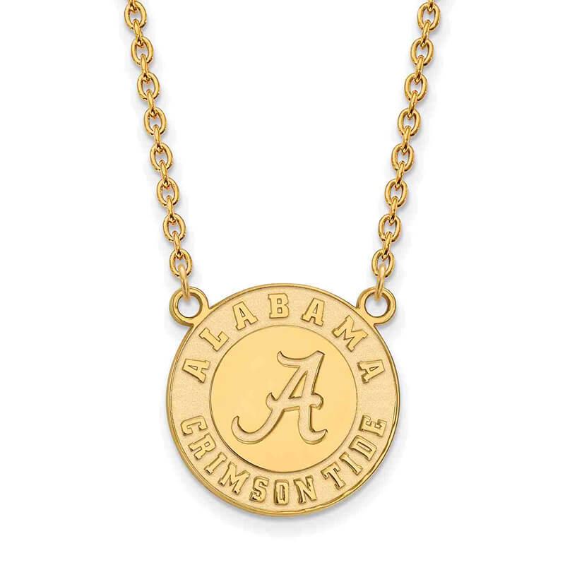 JCX355051: 10ky University of Alabama Large Pendant w/ Necklace