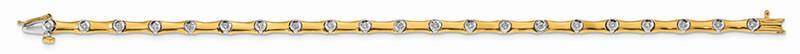 14K Two-tone Lab Grown Diamond SI1/SI2; G H I; Bracelet
