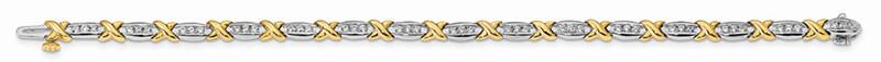 14ktt Polished Lab Grown Diamond SI1/SI2; G H I; Tennis Bracelet