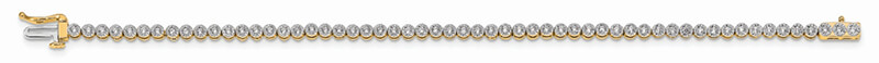 JCX1715: 14ky Lab Grown Diamond SI1/SI2; G H I; Tennis Bracelet