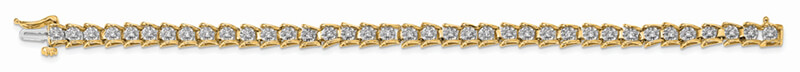 14ky Lab Grown Diamond SI1/SI2; G H I; Bracelet