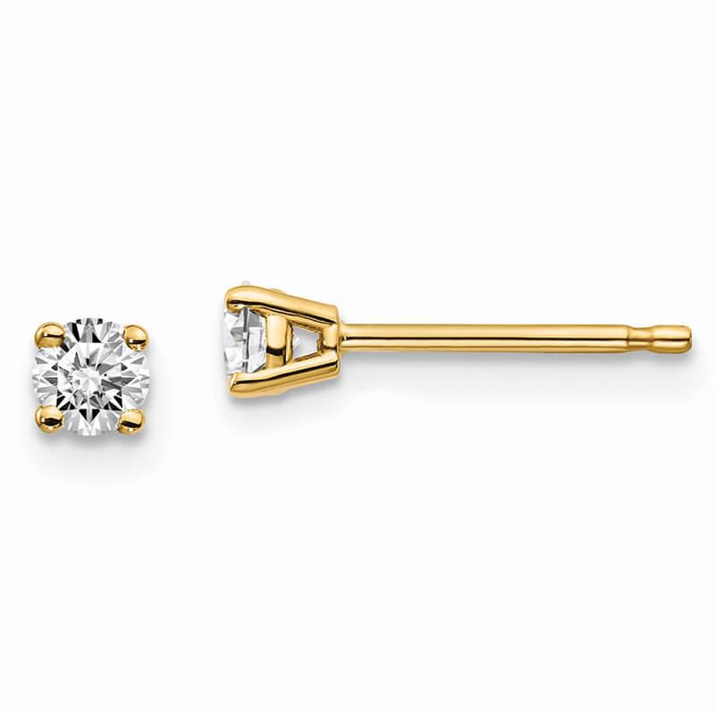 14ky 1/4ctw VS/SI; D E F; Lab Grown Diamond 4-Prg Earring
