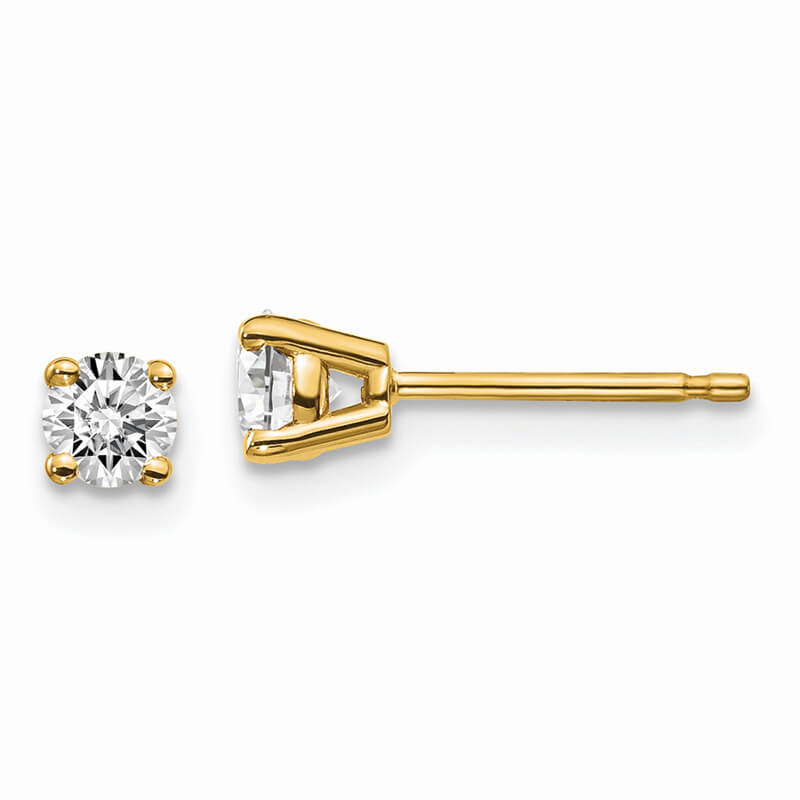 14ky 1/3ctw SI1/SI2; G H I; Lab Grown Diamond 4-Prg Earring