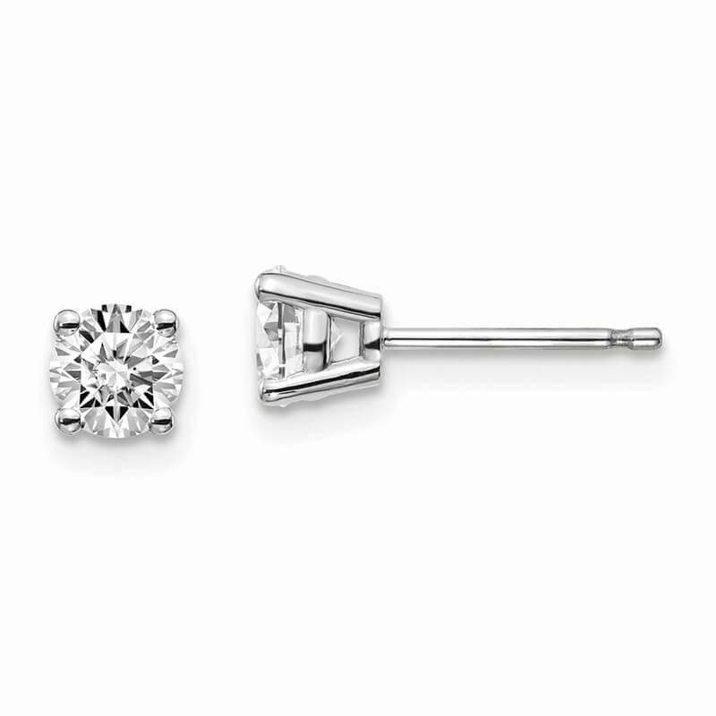 14kw 2/3ctw SI1/SI2; G H I; Lab Grown Diamond 4-Prg Earring