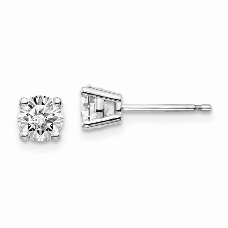 JCX997: 14kw 3/4ctw VS/SI; D E F; Lab Grown Diamond 4-Prg Earring