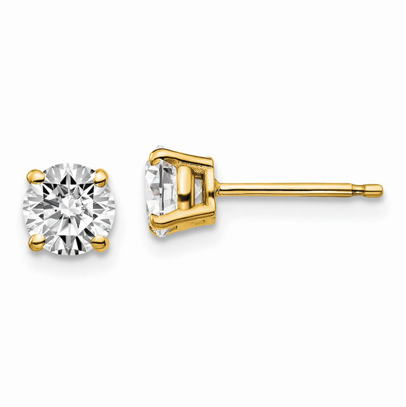 14ky 1ctw Certified SI1/SI2; G H I; Lab Grown Diamond 4-Prg Earring
