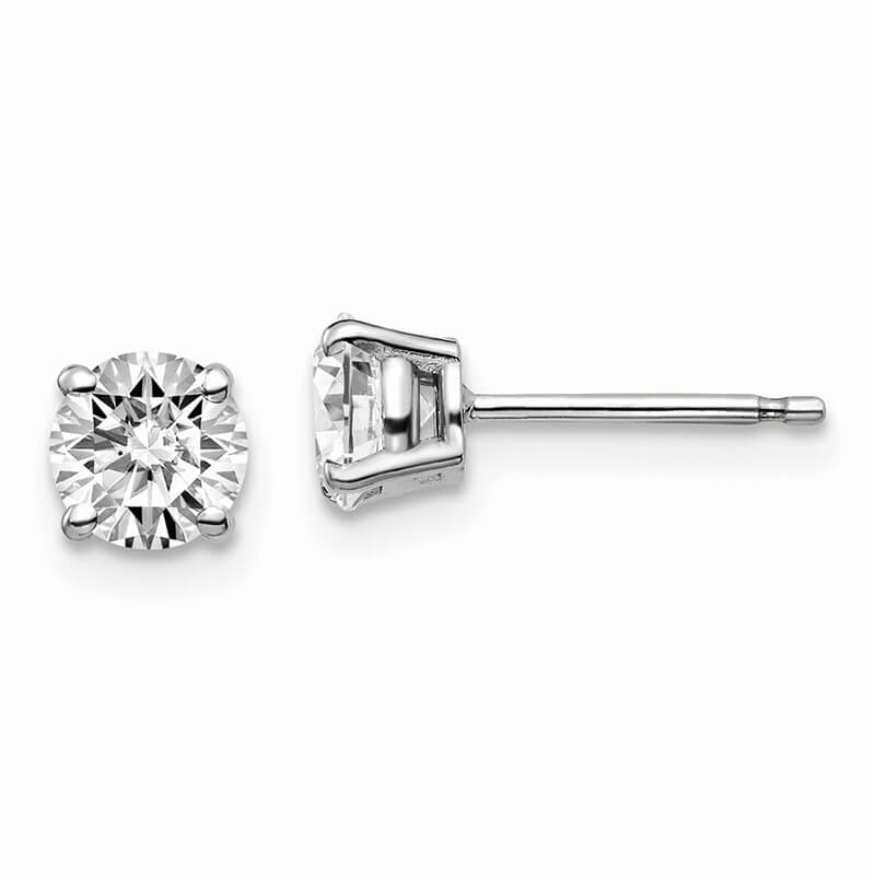 JCX996: 14kw 1ctw VS/SI; D E F; Lab Grown Diamond 4-Prg Earring