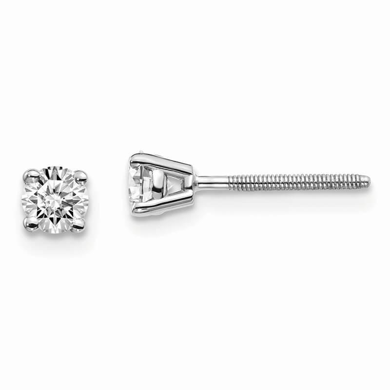 14kw 1/3ctw Cert. SI1/SI2; G H I; Lab Grown Diamond Screw Back Earring