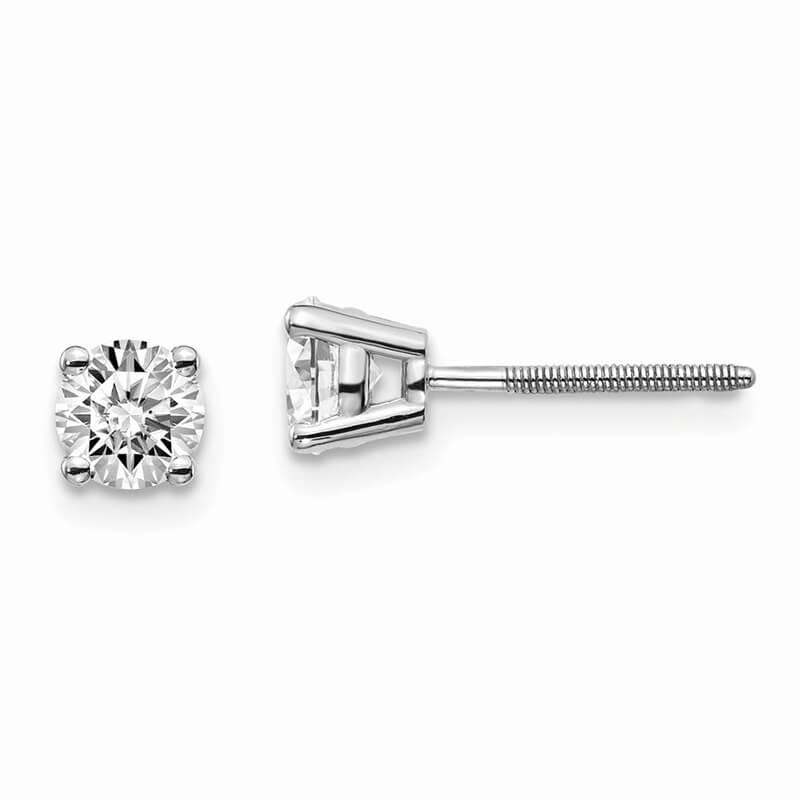 14kw 2/3ctw SI1/SI2; G H I; Lab Grown Diamond Screw Back Earring