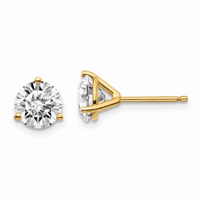14ky 2ctw Lab Grown Diamond SI1/SI2; J; Martini Earring