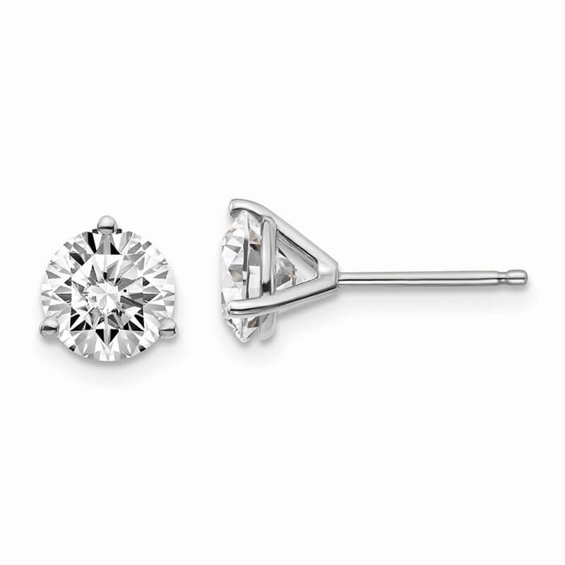 14kw 2ctw Lab Grown Diamond SI1/SI2; J; Martini Earring