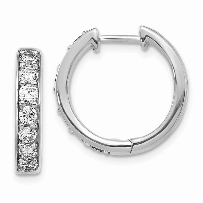 14kw Lab Grown Diamond SI1/SI2; G H I; Hoop Earrings