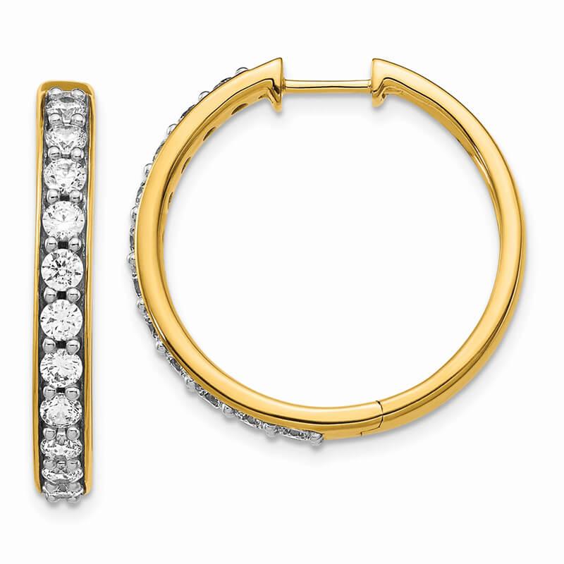 14ky Lab Grown Diamond SI1/SI2; G H I; Hoop Earrings