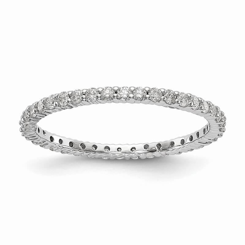 14kw Lab Grown Diamond SI1/SI2; G H I; Shared Prong Eternity Band