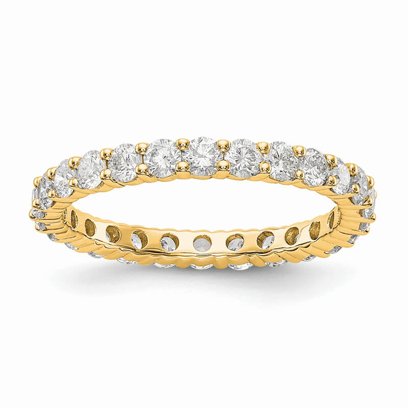 JCX1579: 14ky Lab Grown Diamond SI1/SI2; G H I; Shared Prong Eternity Band