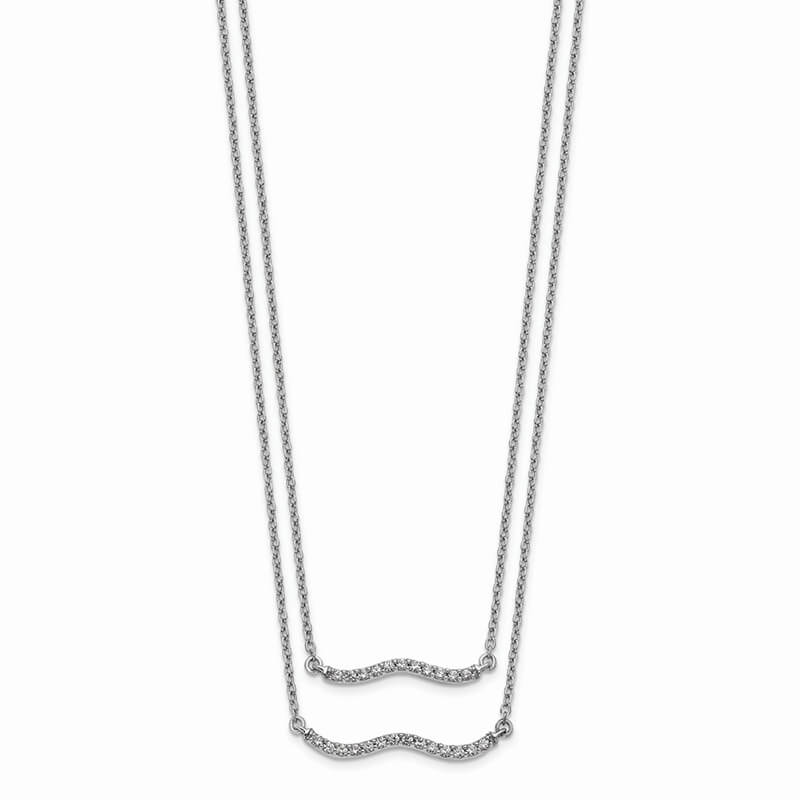 14kw Lab Grown Diamond SI1/SI2; G H I; Double Strand Necklace