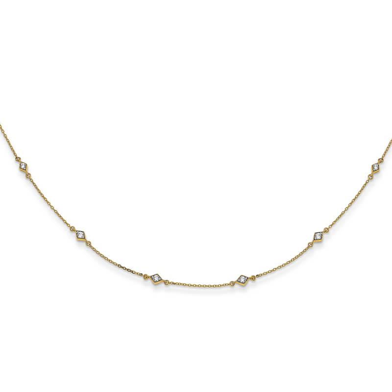 14ky Lab Grown Diamond SI1/SI2; G H I; Multi Station Necklace