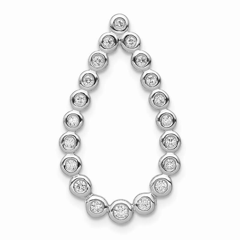 14kw Lab Grown Diamond SI1/SI2; G H I; Teardrop Chain Slide