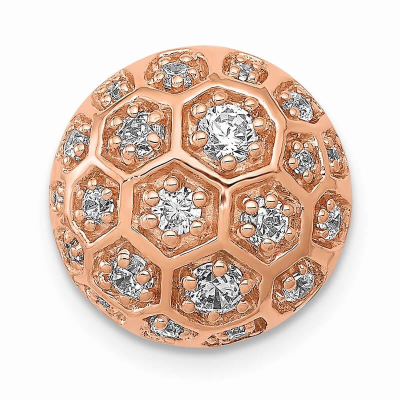 14kr Lab Grown Diamond SI1/SI2; G H I; Honeycomb Chain Slide