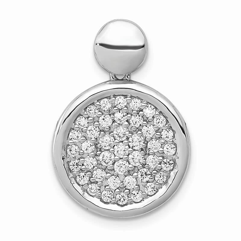 14kw Lab Grown Diamond SI1/SI2; G H I; Fancy Circle Pendant