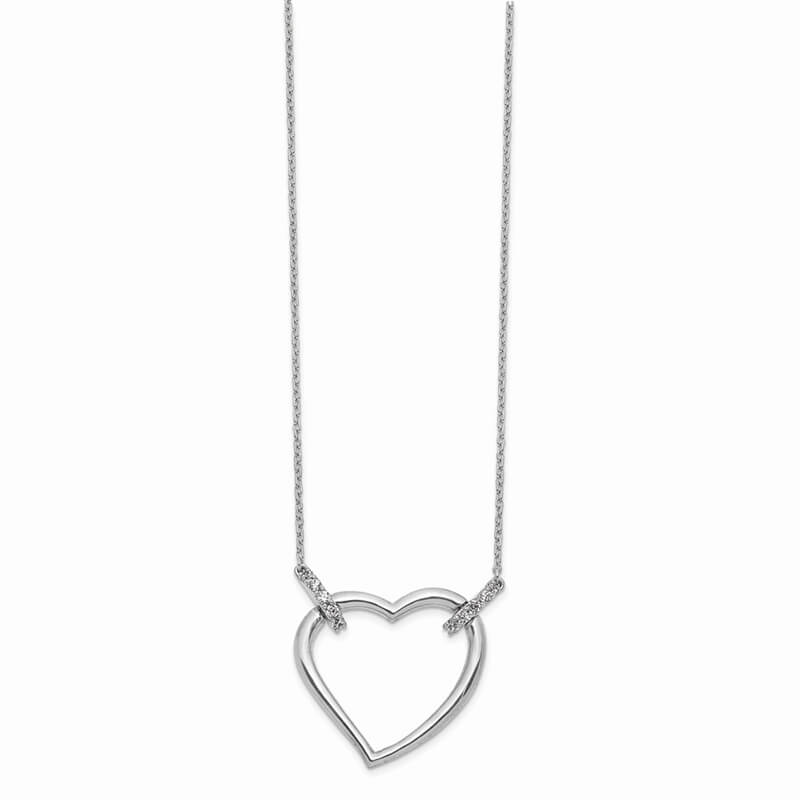 14kw Lab Grown Diamond SI1/SI2; G H I; Heart Necklace