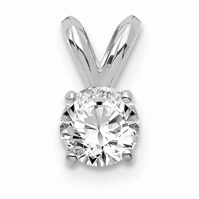 JCX1118: 14kw 1/4ct. Round Lab Grown Diamond SI1/SI2; G H I; Solitaire Pendant