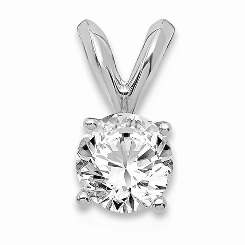 JCX1089: 14kw 1/3ct. Round Lab Grown Diamond VS/SI; D E F; Solitaire Pendant