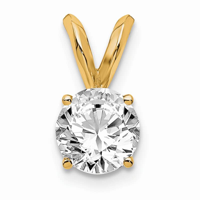 14ky 1/2ct. Round Lab Grown Diamond VS/SI; D E F; Solitaire Pendant
