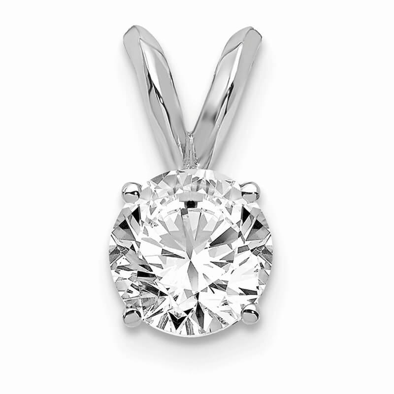 14kw 1/2ct. Round Lab Grown Diamond VS/SI; D E F; Solitaire Pendant