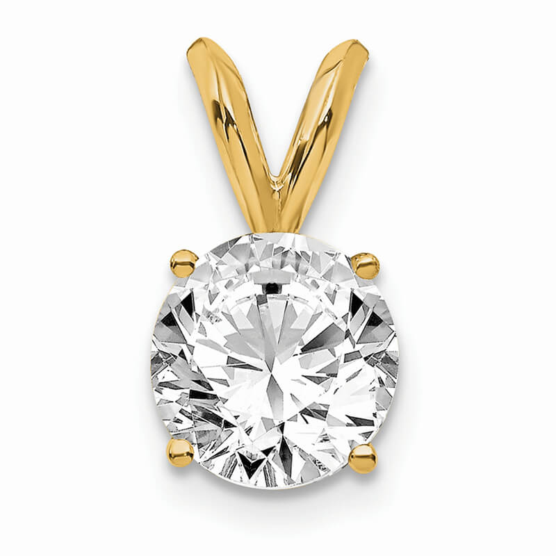 14ky 3/4ct. Round Certified Lab Grown Diamond SI1/SI2; G H I; Solitaire Pe